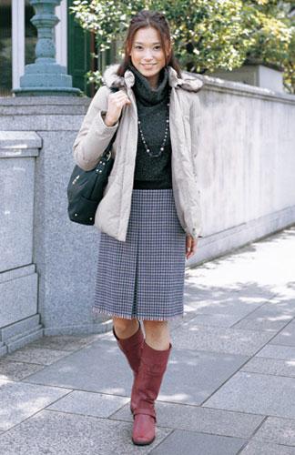 ★大衣和长靴的经典搭配