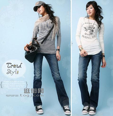 简单的服饰可选择比较醒目的配饰搭配-一条牛仔裤的四种搭配