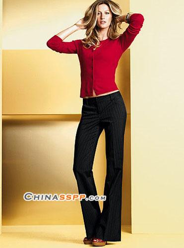 时尚优雅的修身长裤