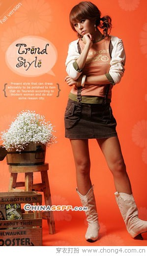 ★长靴和短裙的性感搭配