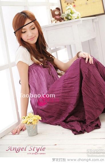 十款淘宝上正热卖的色彩衣裙