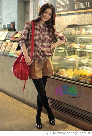 格子衬衫的活力搭配 - 37铺 - 2010穿衣打扮-服装搭配