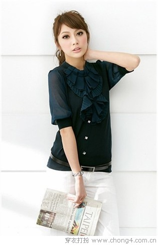 简洁典雅的衬衫搭配 - 37铺 - 2010穿衣打扮-服装搭配