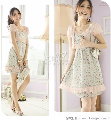 知性女人轻柔甜美雪纺裙 - 冰豆 - 2010穿衣打扮-服装搭配