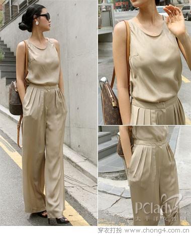 成熟女人的选择:典雅飘逸阔腿裤 - 冰豆 - 2010穿衣打扮-服装搭配