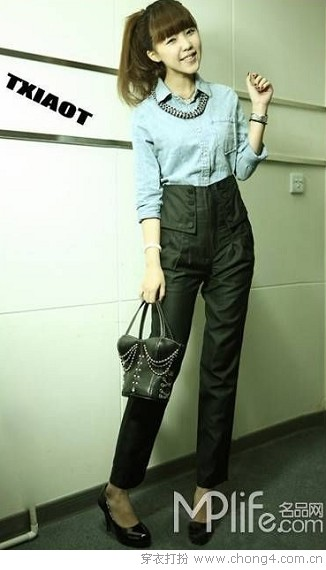 一件牛仔衫的多种搭配 - 冰豆 - 2010穿衣打扮-服装搭配