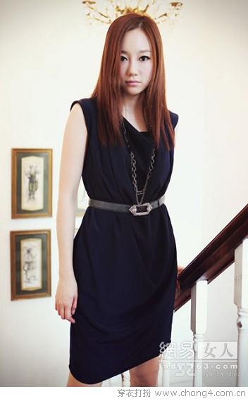 优雅纯色连衣裙 - 冰豆 - 2010穿衣打扮-服装搭配