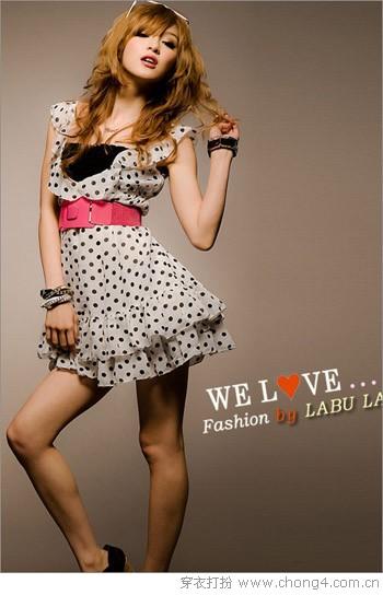 简洁性感圆点连衣裙 - 冰豆 - 2010穿衣打扮-服装搭配
