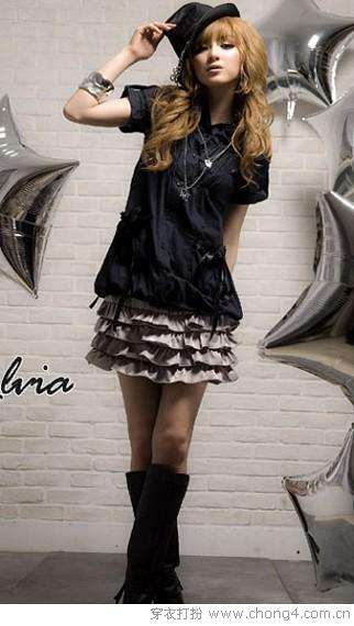 浓浓女人味荷叶边短裙 - 冰豆 - 2010穿衣打扮-服装搭配