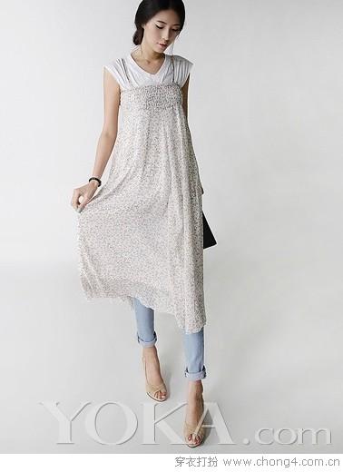 夏日清爽吊带裙 - 冰豆 - 2010穿衣打扮-服装搭配