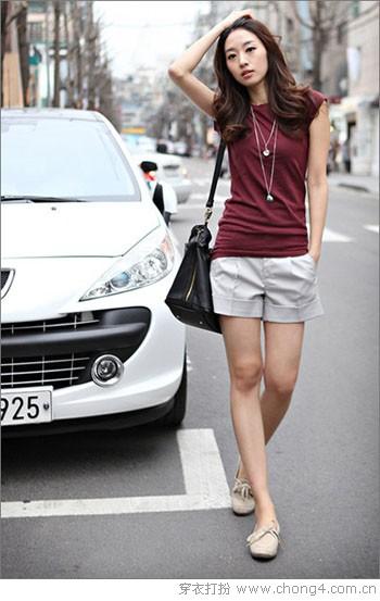 休闲时尚卷边短裤 - 冰豆 - 2010穿衣打扮-服装搭配