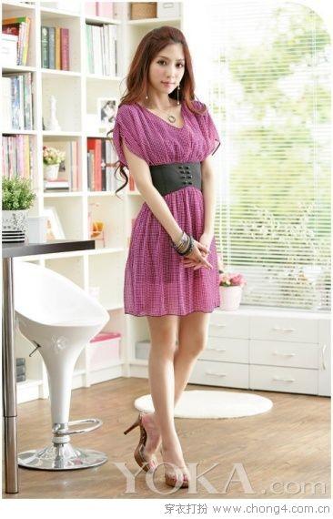 高温的七月:当然要穿清凉甜美雪纺裙 - 冰豆 - 2010穿衣打扮-服装搭配