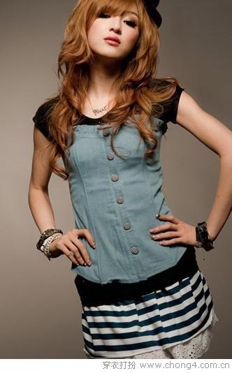 假两件T恤 一件穿出多层次感觉 - 冰豆 - 2010穿衣打扮-服装搭配
