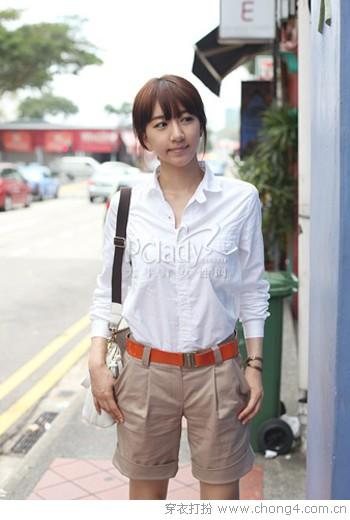 白衬衫和裤装的清新搭配 - 冰豆 - 2010穿衣打扮-服装搭配