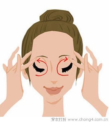 让眼霜效果翻番的按摩手法 - 妮薇雅 - 美容美发化妆培训学校