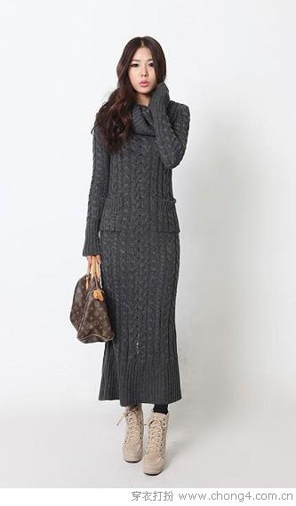 冬季长裙如何搭