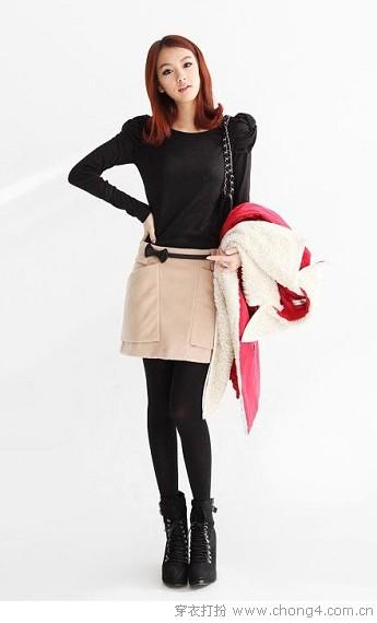 冬季<a style='top:0px;' href=/index.php/article/tag/k/%25E9%259D%2593%25E4%25B8%25BD.html target=_blank ><strong style='color:red;top:0px;'>靓丽</strong></a>一字裙