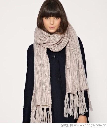 保暖百搭针织款围巾