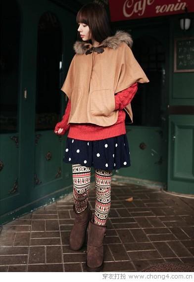 印花打底裤 越花越时尚