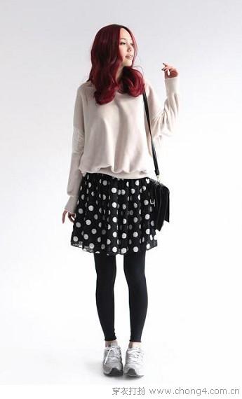 Leggings+裙装 早春最佳拍档