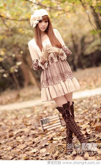 可人瓷娃娃 娇俏春款连衣裙