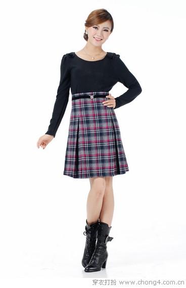 长袖裙装打造名媛风