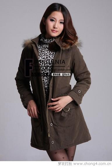 棉衣也能打造时尚潮人