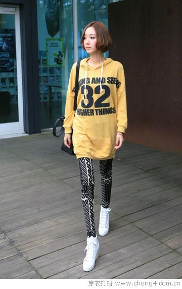 斑斓印花打底裤