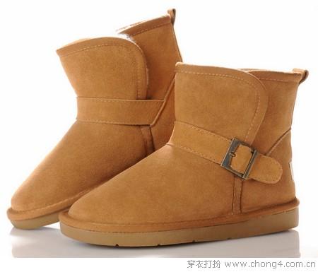 厚植绒雪地靴 给双脚温暖冬季