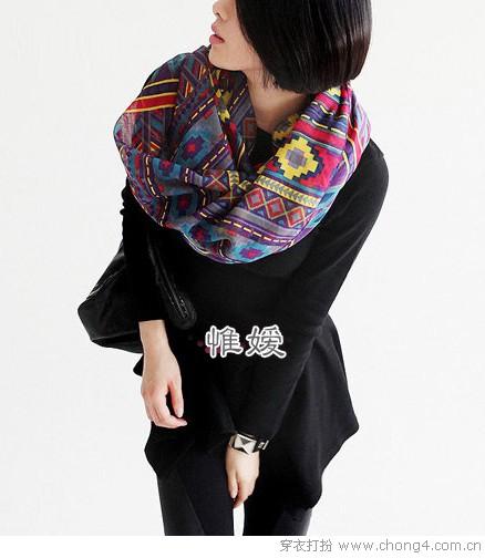 气质型保暖围巾 UP魅力指数