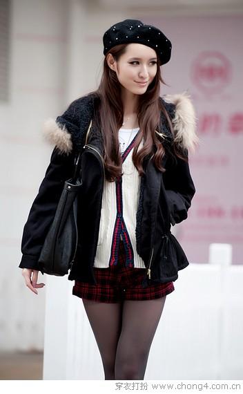 冬季定番装 貉子毛领大衣