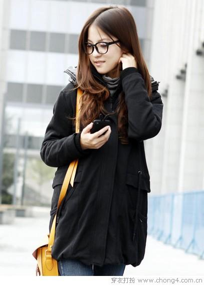 简约主义 纯色暖心棉衣