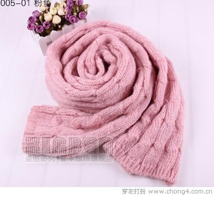 针织围巾送来温暖圣诞