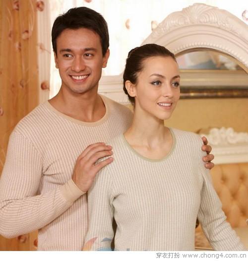 情侣款保暖内衣 冷暖与共见真情