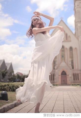春の仙级吊带裙