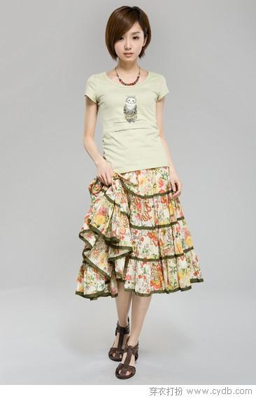 半身长裙,摇曳一地的梦