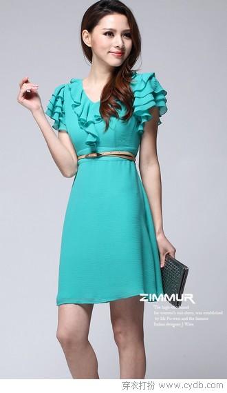 里购买--高腰修身气质连衣裙 ←-优雅轻熟女连衣裙