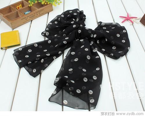 学用丝巾凹造型