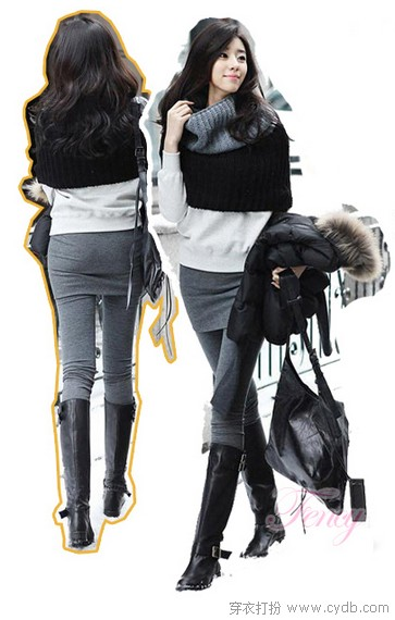 打底裤:白富美不如瘦直美