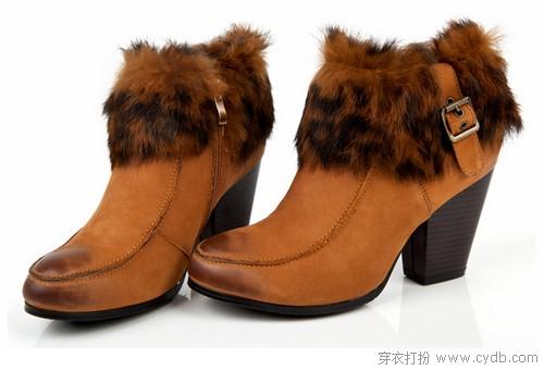 风靡秋冬兔毛元素之鞋篇