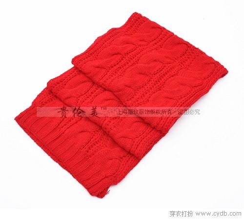 麻花保暖针织围巾