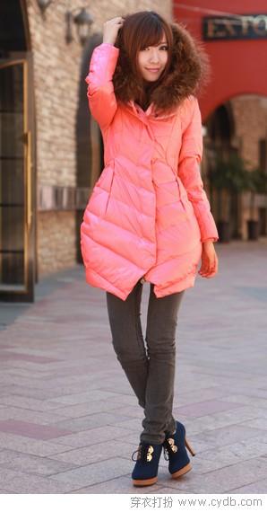 保暖加美丽 裙式羽绒服