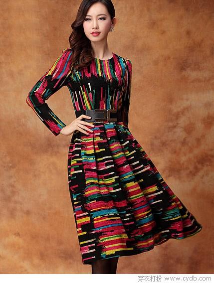 穿条长裙优雅过冬