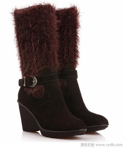 坡跟美靴 低调增高