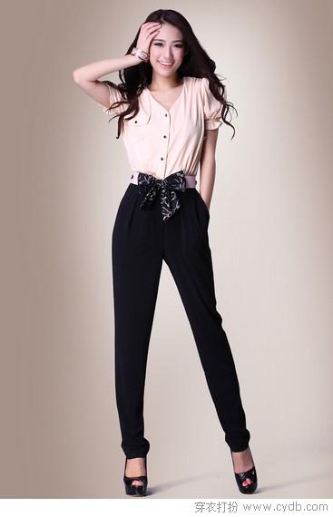 连体裤助你穿出模特范