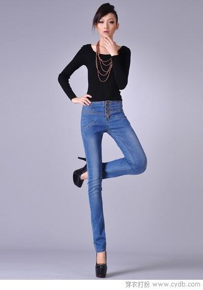 شلوار جین راسته دخترانه