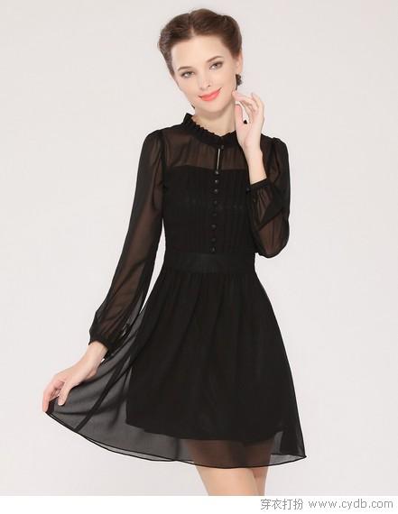 ★气质女生都爱优雅小黑裙