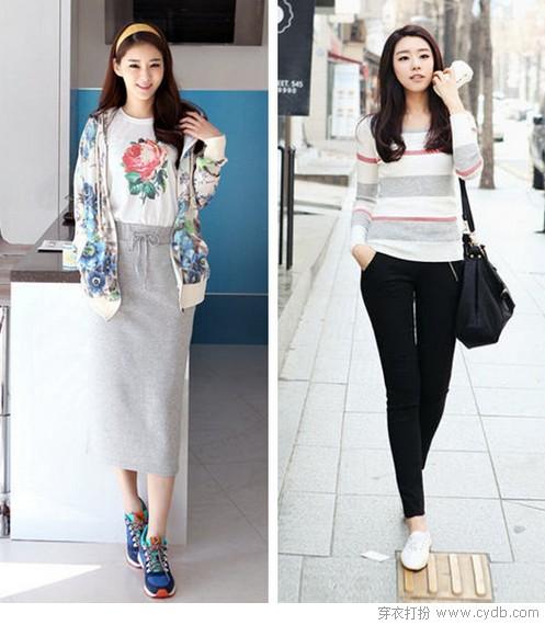 休闲也时尚 韩式逛街范儿