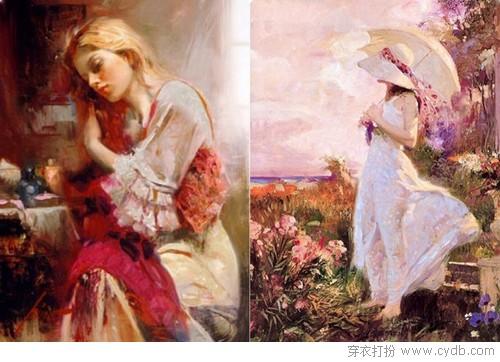 意式唯美长裙,宛如画中仙