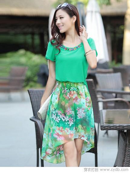 诗意绿罗裙